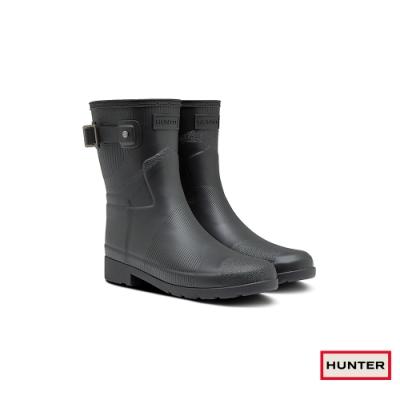HUNTER - 女鞋 - Refined波紋短靴 - 黑