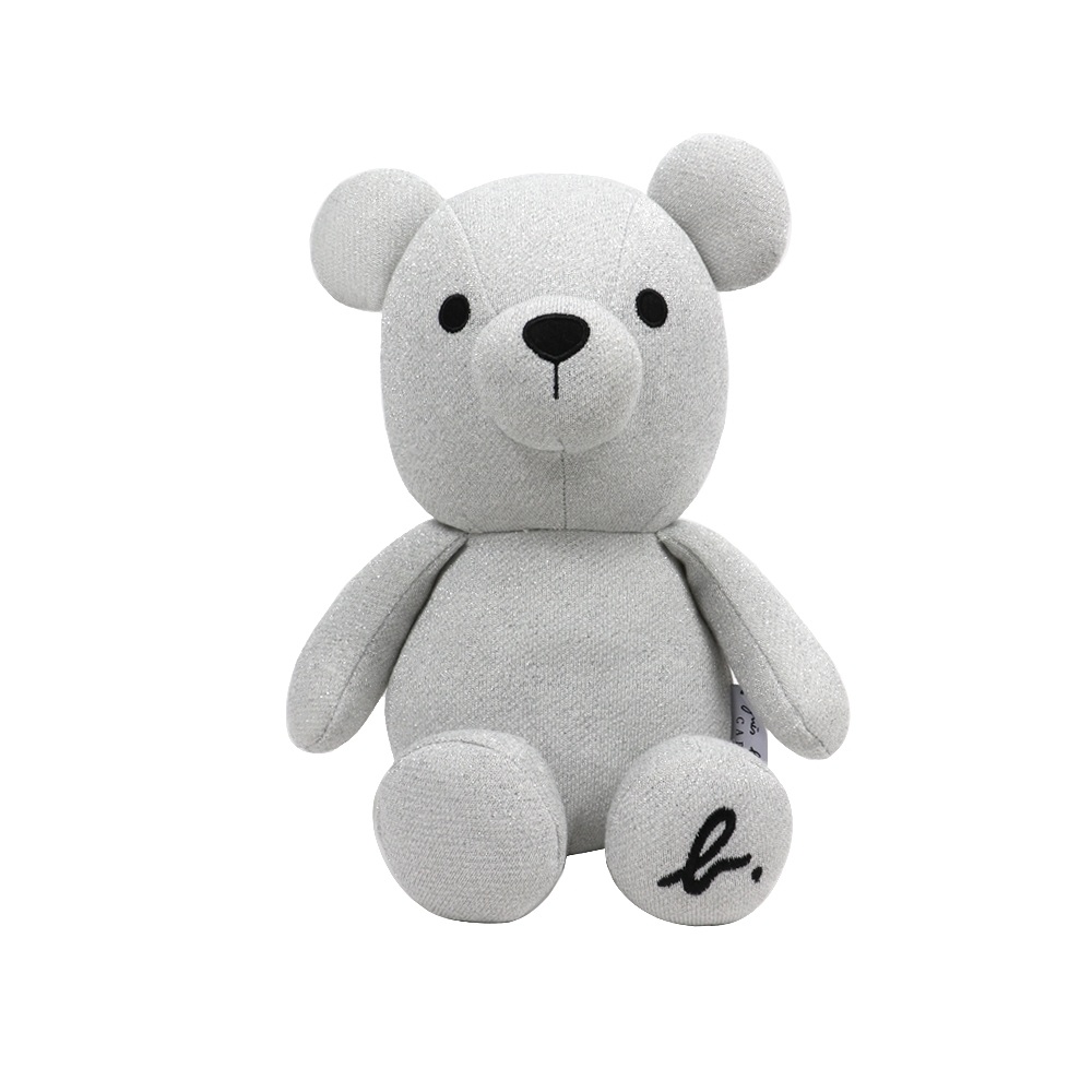 agnes b. b.cafe銀蔥毛呢小熊