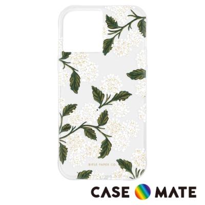 美國 Case-Mate x Rifle Paper Co. 限量聯名款 iPhone 12 / 12 Pro 防摔抗菌手機保護殼 - 白色繡球花