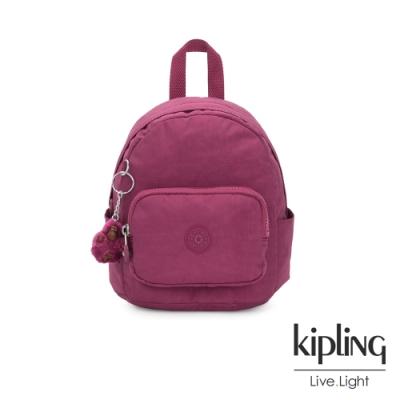 Kipling 氣質知性桃紫色輕巧迷你後背包-MINI BACKPACK
