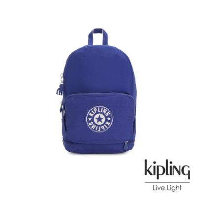 Kipling 激光藍品牌經典圓標二合一後背側背包-CLASSIC NIMAN FOLD