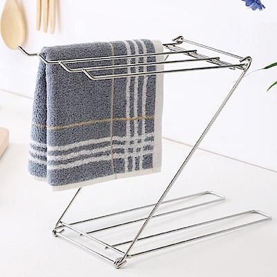Home Feeling 毛巾架/瀝水架/桌上型/不鏽鋼-12.5X33X23