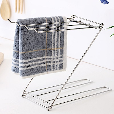 Home Feeling 毛巾架/瀝水架/桌上型/不鏽鋼(2入組)-12.5X33X23