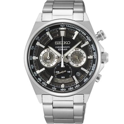 SEIKO精工 CS 競速三眼計時腕錶 8T63-00T0D(SSB397P1)-41mm