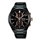 SEIKO精工 SPIRIT 太陽能兩地時間計時腕錶-黑41mm(SBPJ039J/V195-0AE0K) product thumbnail 1
