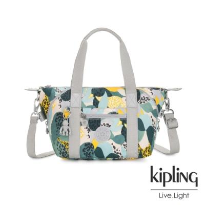 Kipling 叢林展葉綠手提側背包-ART MINI