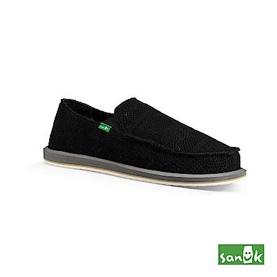 SANUK-YEW KNIT 針織網布懶人鞋-男款(黑色)