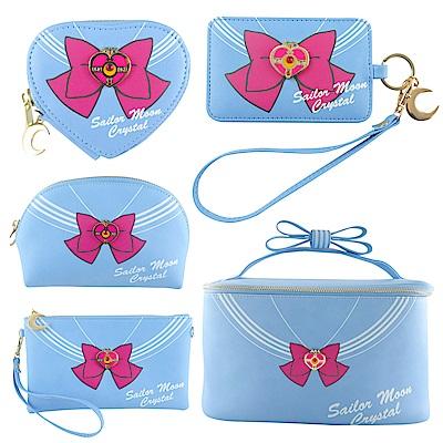美少女戰士經典蝴蝶結化妝箱五件組(化妝箱 化妝包 證件套 零錢包 手拿包)