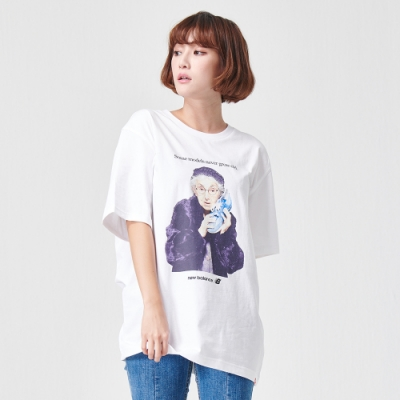 New Balance 老婆婆經典海報短袖T恤 MT91504WT 中性 白色