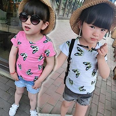 小衣衫童裝  中性款俏皮眼鏡吉娃娃印花T恤1050219