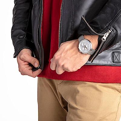 CALVIN KLEIN highnoon 巔峰系列手錶-銀白/43mm