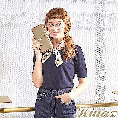 KINAZ x PEANUTS™ 花園咖啡L型拉鍊長夾-糖霜歐蕾-好日子系列-快