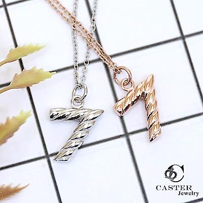 日本 凱斯特 CASTER 幸運之星 玫瑰金項鍊 防抗過敏 SUS316L頂級不鏽鋼飾品