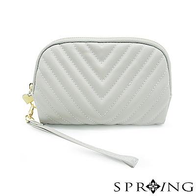 SPRING-女神赫本手提包-優雅灰