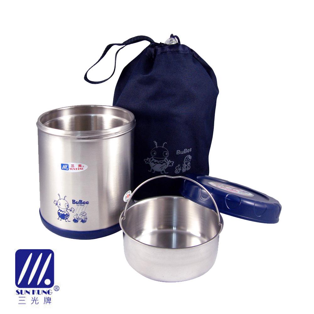 【三光牌】蘇香雙層真空不鏽鋼保溫飯盒/食物罐 0.85L (顏色隨機)