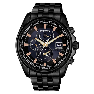 CITIZEN 沉穩奢華光動能電波男腕錶(AT9039-51L)-42mm