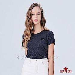 BRAPPERS 女款 小LOGO印花圓領短袖T恤-深麻灰