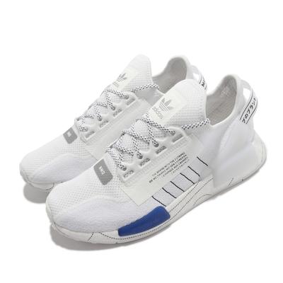 adidas 休閒鞋 NMD R1 V2 襪套 反光 運動 男鞋 愛迪達 經典 熱貼合網布 Boost避震 白藍 GX0544