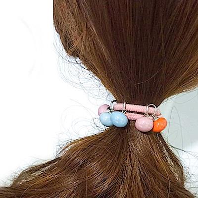 Hera 赫拉 可愛蘑菇球撞色髮圈4入組-隨機