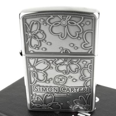 ZIPPO 日系~ZIPPO x SIMON CARTER-英國袖扣品牌打火機(銀燻黑款)