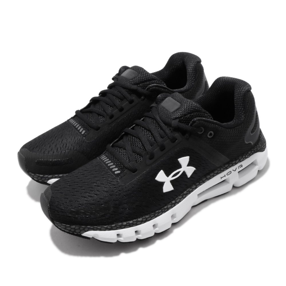 UA 慢跑鞋 HOVR Infinite 2 運動 男鞋 輕量 透氣 舒適 避震 路跑 健身 黑 白 3022587001
