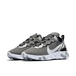 Nike 休閒鞋 React Element 55 男鞋 輕量 舒適 避震 簡約 球鞋 穿搭 灰 白 CD2153100