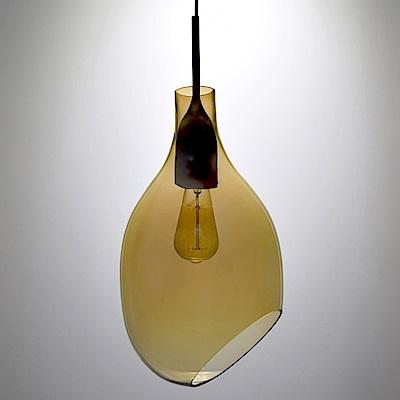 bnatural VESSEL斜口玻璃琥珀色吊燈 BNL00126