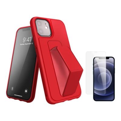[買殼送保護貼] iPhone 12 mini 紅色支架手機殼 (iPhone12mini保護貼 iPhone12mini手機殼 )