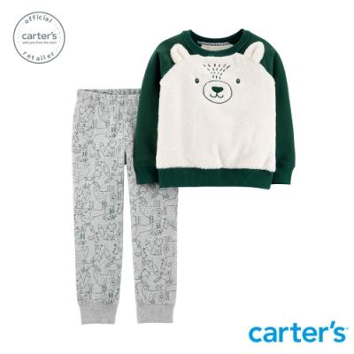 Carter s台灣總代理 熊熊毛茸茸2件組套裝