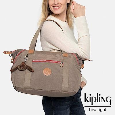 Kipling 卡其撞色手提側背包-ART-ESSENTIAL系列