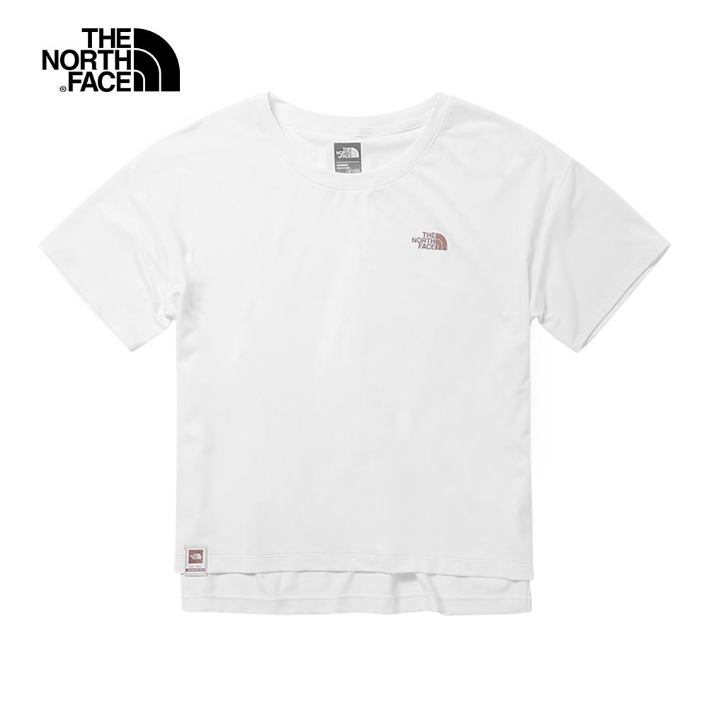 The North Face北面女款白色吸濕排汗T恤|3V53FN4