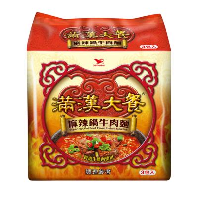 滿漢大餐 麻辣鍋牛肉麵(3入/袋)
