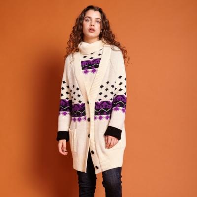 gozo 復古印花針織外套(二色)