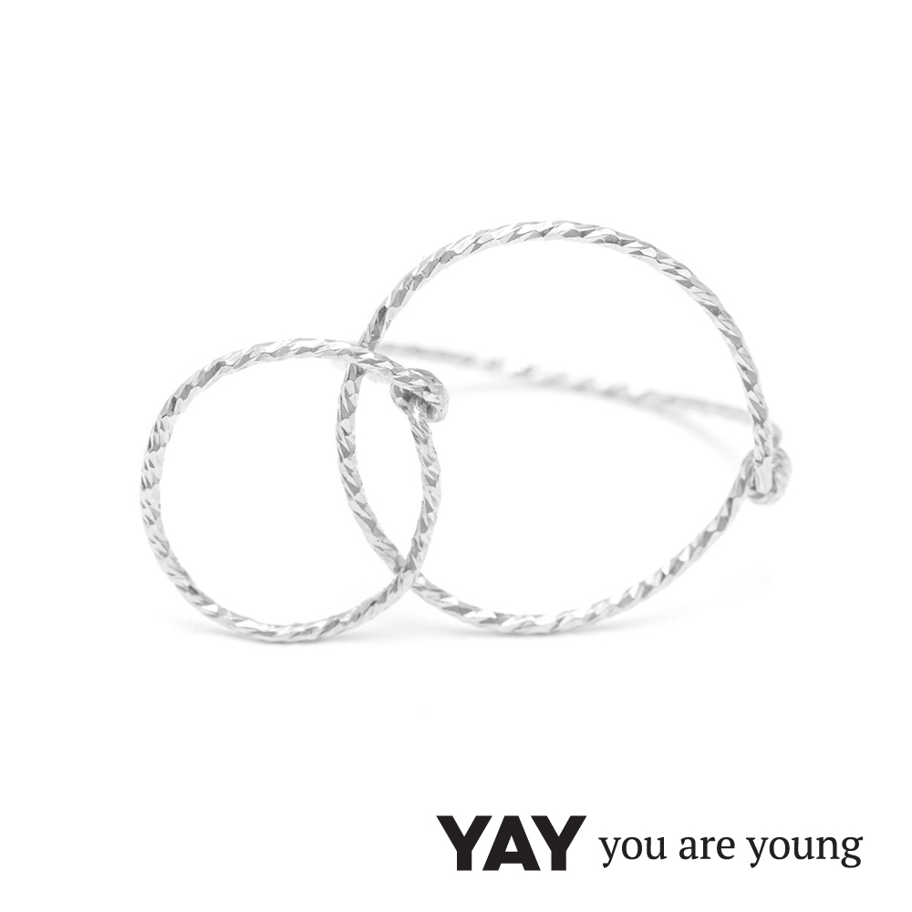 YAY You Are Young Fruits Dor 雅果無限戒指 銀色髮絲紋