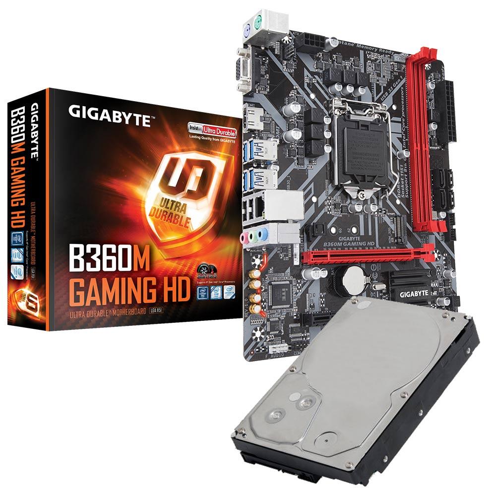 技嘉B360M-GAMING HD+3TB硬碟 超值組