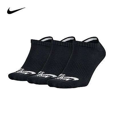 NIKE踝襪SX4921-001黑色毛巾底厚底三雙一組x3組