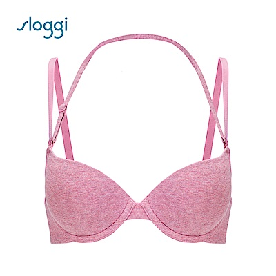 sloggi Everyday 有機過生活系列下厚上薄罩杯內衣 薔薇粉 16A4107 R5