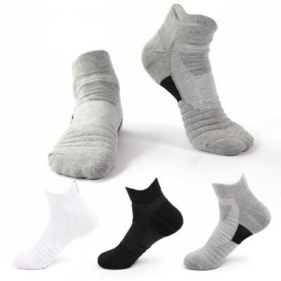 【Dagebeno荷生活】男士低筒精英運動襪(6雙組) 排汗物理性防滑籃球羽球首選機能襪