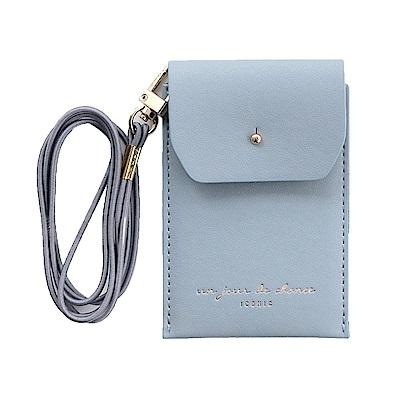 ICONIC 職人頸掛證件票卡夾(附掛帶)-天空藍