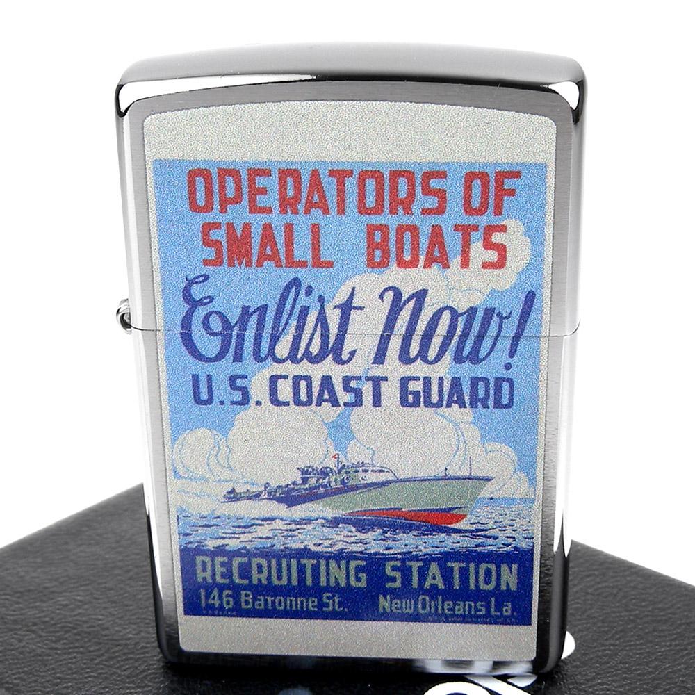 ZIPPO 美系~Coast Guard-二戰美國海岸防衛隊海報圖案設計打火機