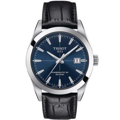 TISSOT天梭 GENTLEMAN紳士系列矽游絲機械手錶(T1274071604101)-40mm