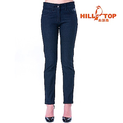 【hilltop山頂鳥】女款保暖修身牛仔褲H31FL1黑美人