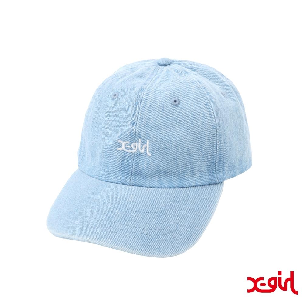 X-girl EMBROIDERED MILLS LOGO CAP老帽-藍色