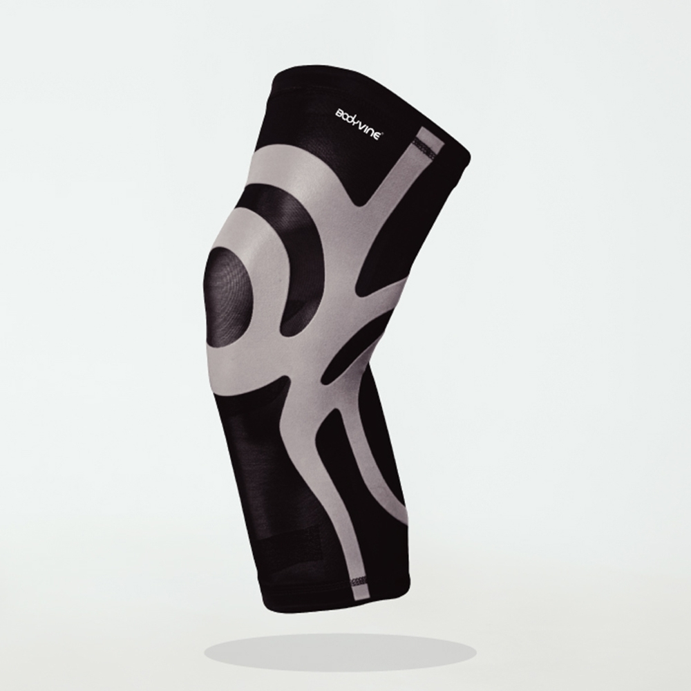 【BodyVine 巴迪蔓】超薄貼紮護膝PLUS (1入) 運動防護 運動護具 運動護膝(CT-1551)