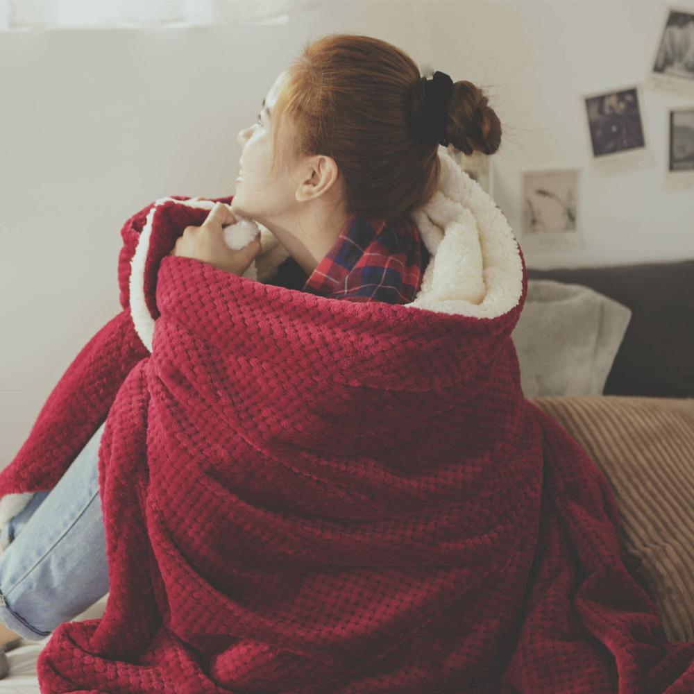 絲薇諾 聖誕紅 Warm Warm羊羔絨毯/毛毯-150×200cm