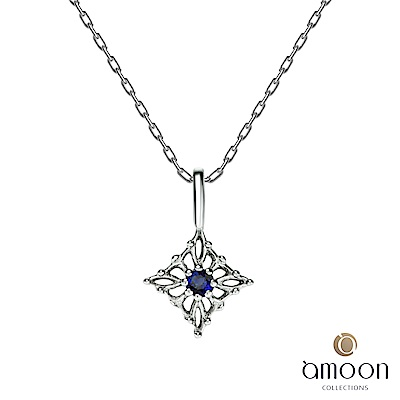 amoon 璀璨彩寶系列 明星 10K金藍寶石項鍊