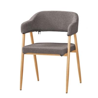 MUNA 泰倫斯餐椅(灰色布)(五金腳)(4入) 54X55X77cm