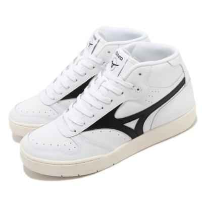 Mizuno 休閒鞋 City Wind Mid 中筒 男鞋 美津濃 皮革鞋面 基本款 穿搭推薦 白 黑 D1GA205801