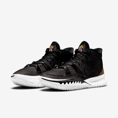 Nike 籃球鞋 Kyrie 7 EP 運動 男鞋 明星款 避震 包覆 支撐 球鞋 黑 白 CQ9327005