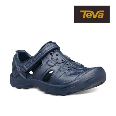 【TEVA】原廠貨 幼/中/大童 Omnium Drift 水陸輕量護趾涼鞋/雨鞋/水鞋/童鞋(海軍藍-TV1110229CNAVY)